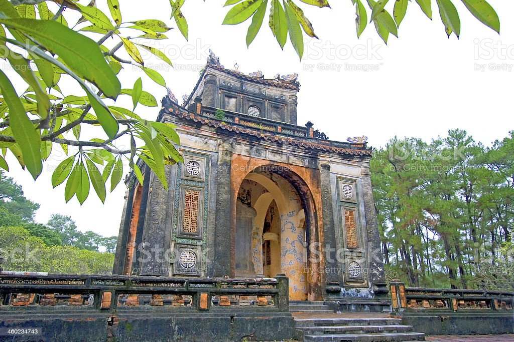 Tu Duc Tomb, Hue, Vietnam. stock photo