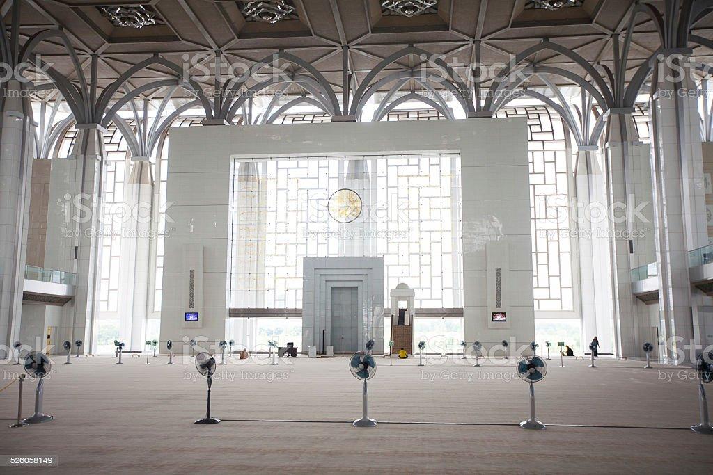 Tuanku Miizan zainal abidin mosque inside, Putrajaya,  Malaysia stock photo