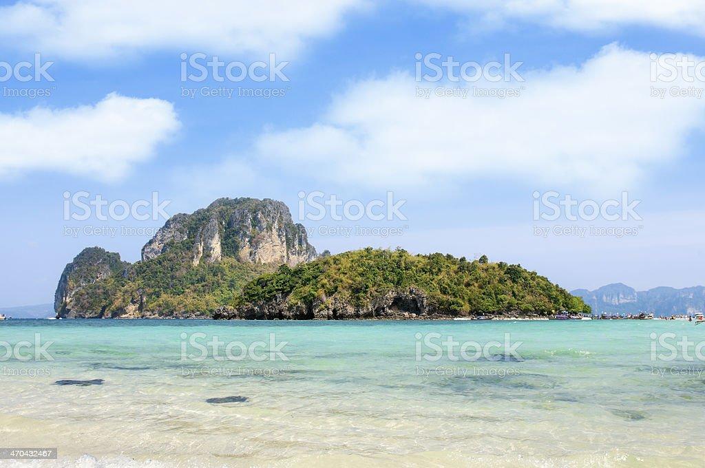 Tub island stock photo
