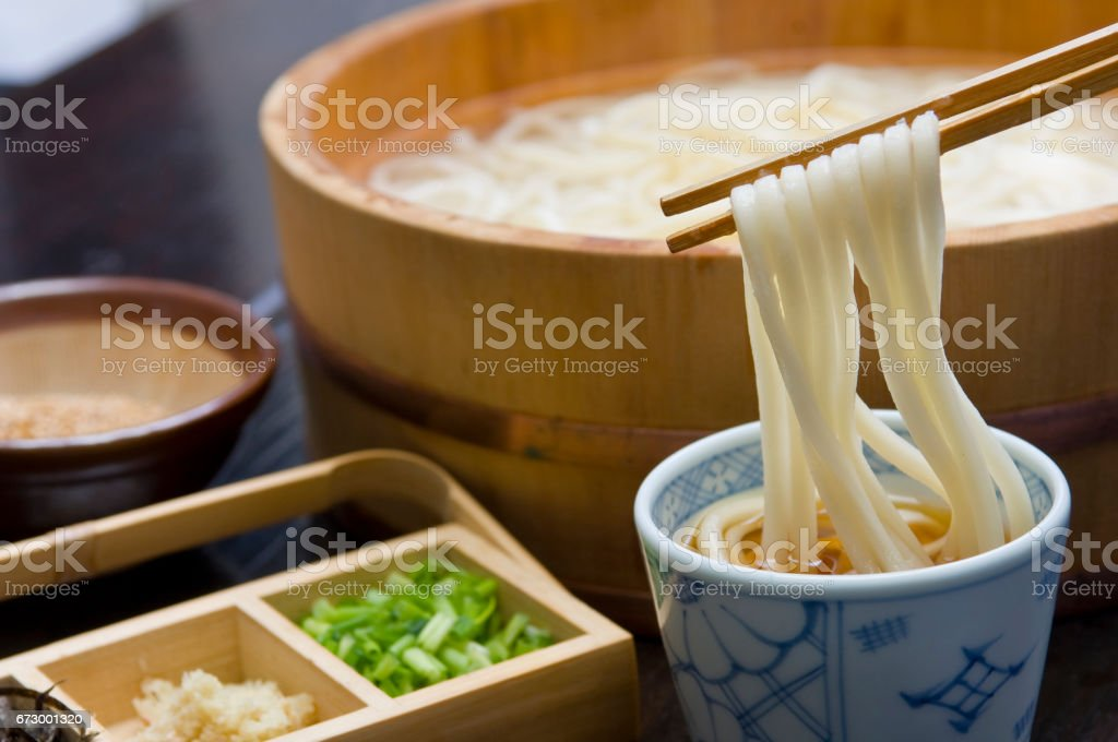 Tub udon [Kagawa] stock photo