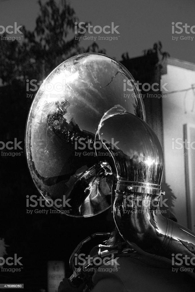 Tuba At Sundown stock photo