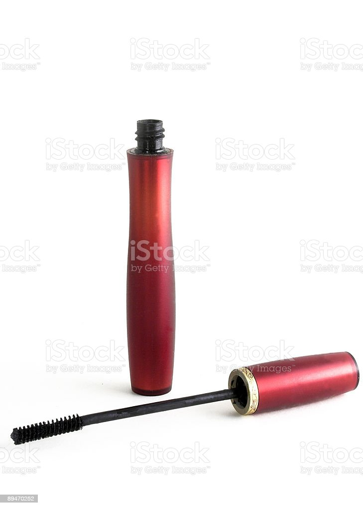 tube and mascara wand stock photo