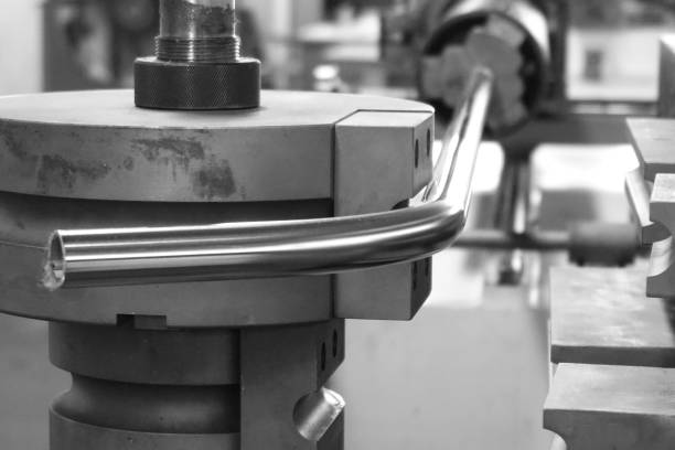 tube bending machine close up tube bending machine in the factory bending stock pictures, royalty-free photos & images