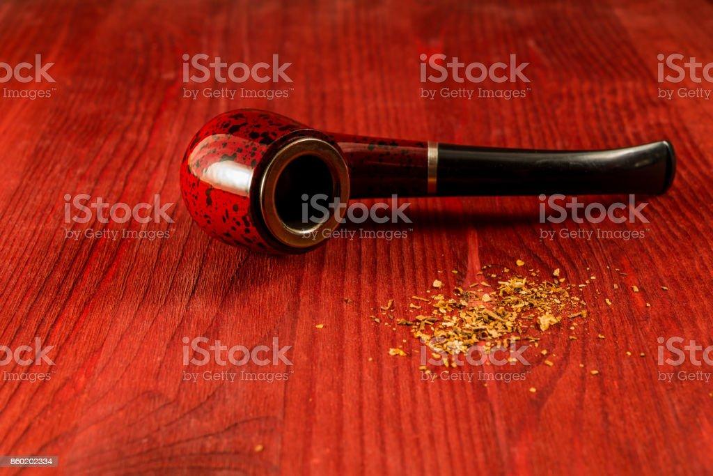 Tube for smoking tobacco stock photo
