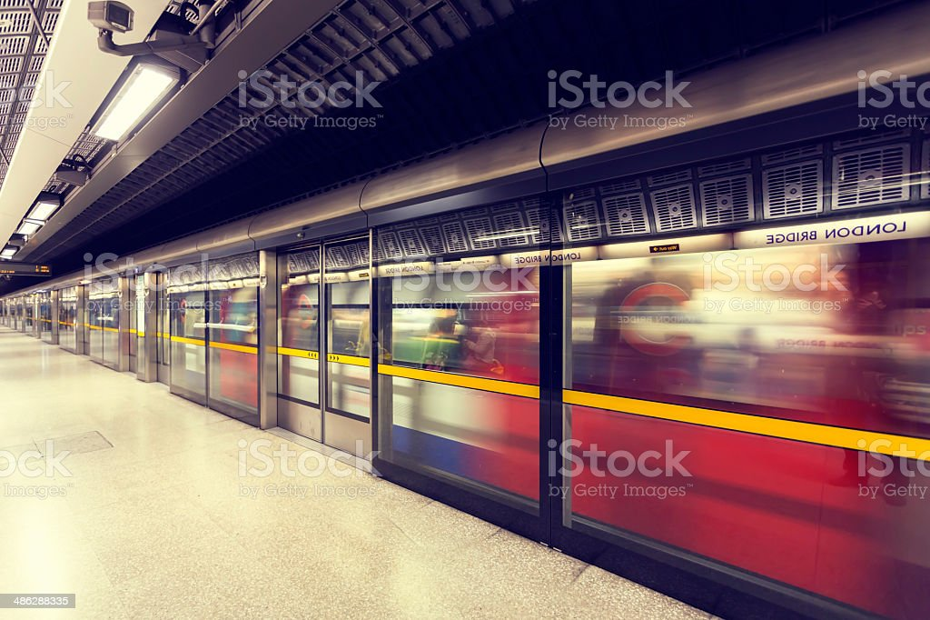 Tube leaving the platform stock photo