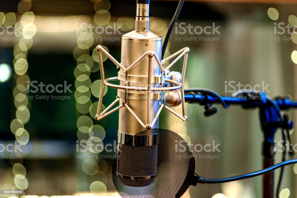 Tube Microphone stock photo