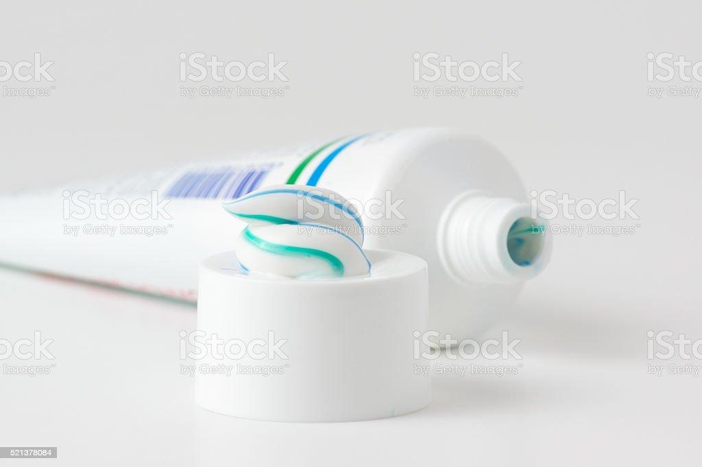 tube of toothpaste stock photo