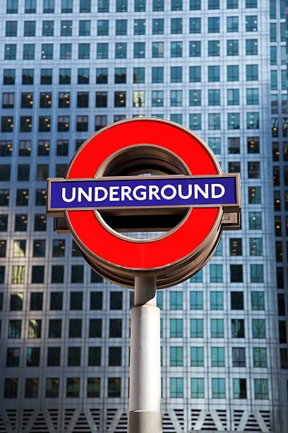Tube Sign stock photo
