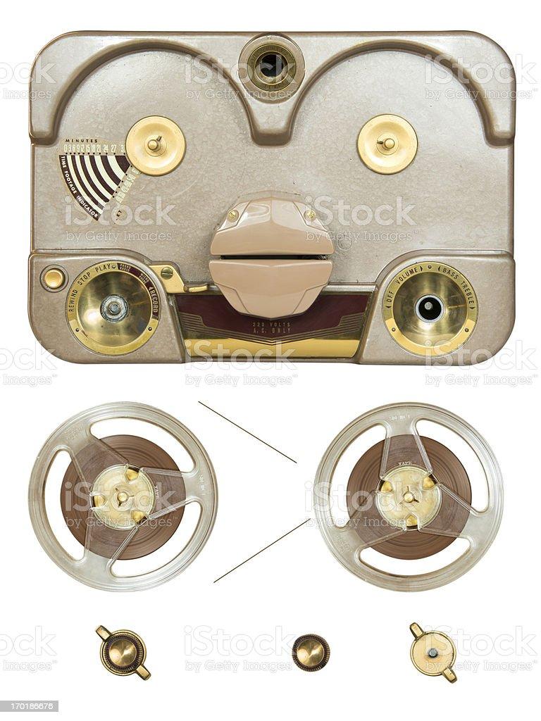 Tube Tape-Recorder Parts royalty-free stock photo