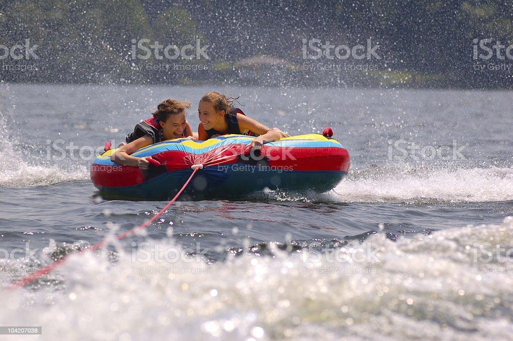 Tubing fun stock photo