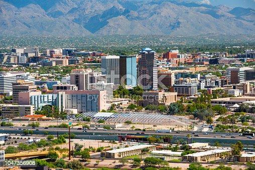 Tucson skyline view