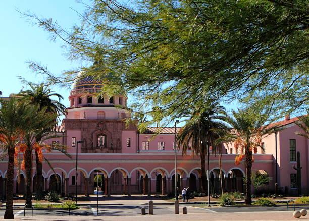 Tucson, Arizona Old Pima County Courthouse in Tucson, Arizona tucson stock pictures, royalty-free photos & images