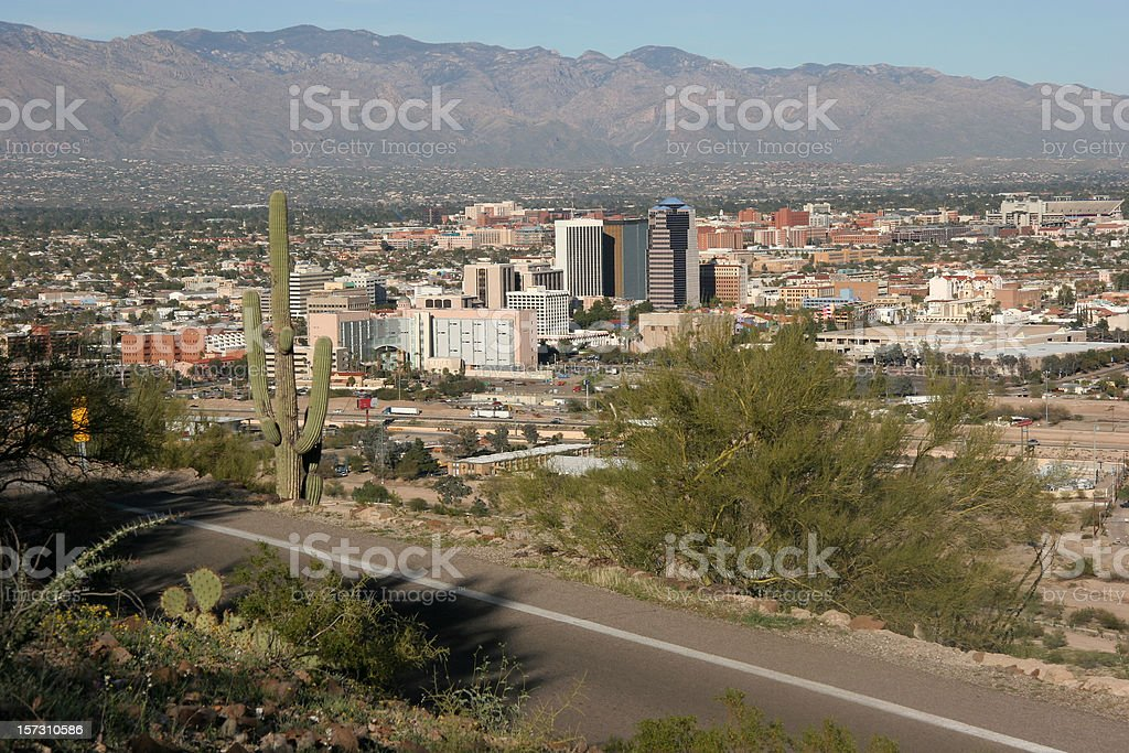 Tucson Arizona Skyline In Late Afternoon royalty-free stock photo