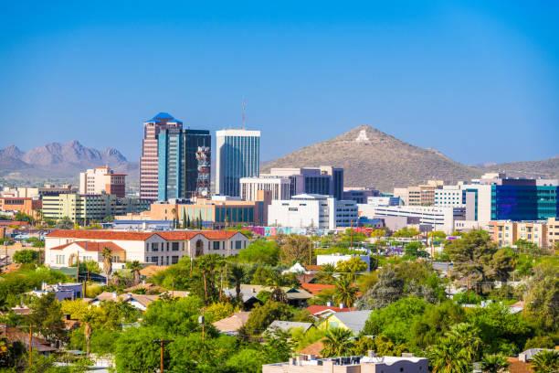 Tucson, Arizona, USA Cityscape stock photo