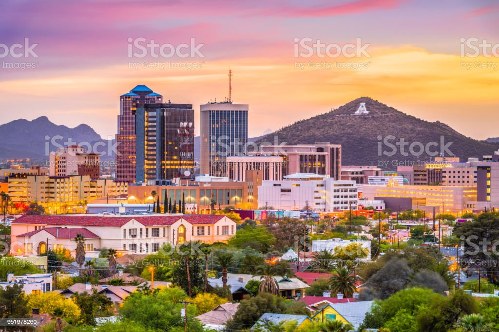 Tucson, Arizona, USA Skyline stock photo