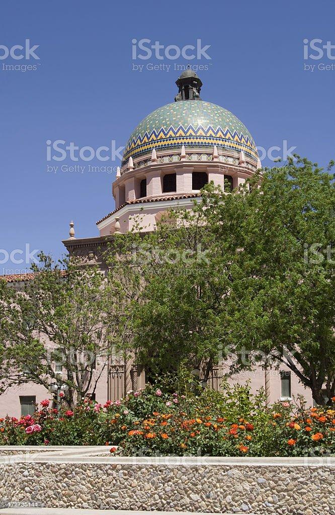 Tucson City Hall Dome royalty-free stock photo