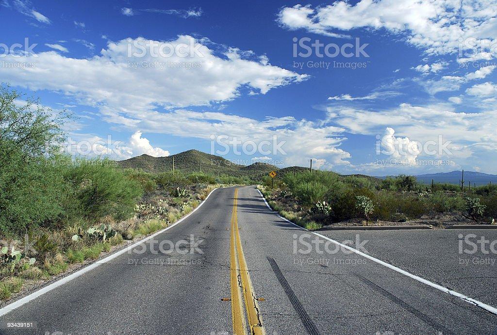 Tucson Desert Highway royalty-free stock photo