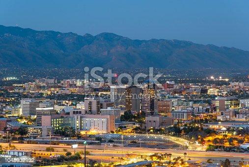 Downtown skyline of Tucson Arizona