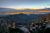 Sunset view of Tucson Arizona looking from Mt Lemmon