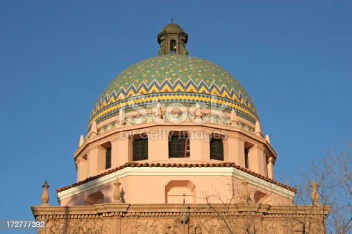 Late afternoon light.  Built in 1929 this beautiful old building with it's Mosaic dome is one of Tucson's most recognizable Structures. It is still in use with courts and county offices.