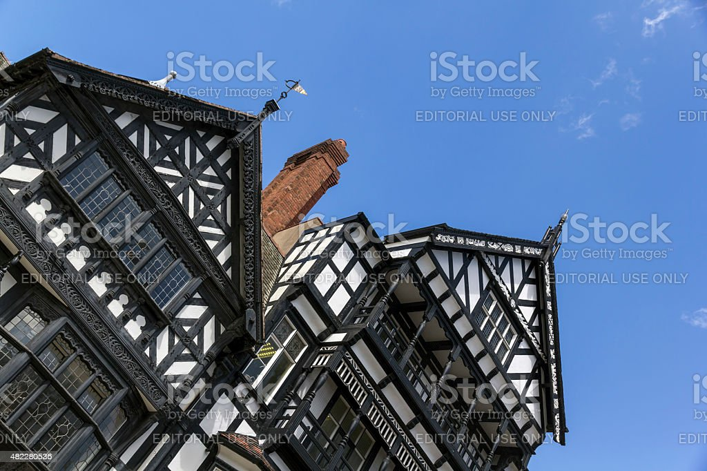 Tudor Architecture Chester stock photo