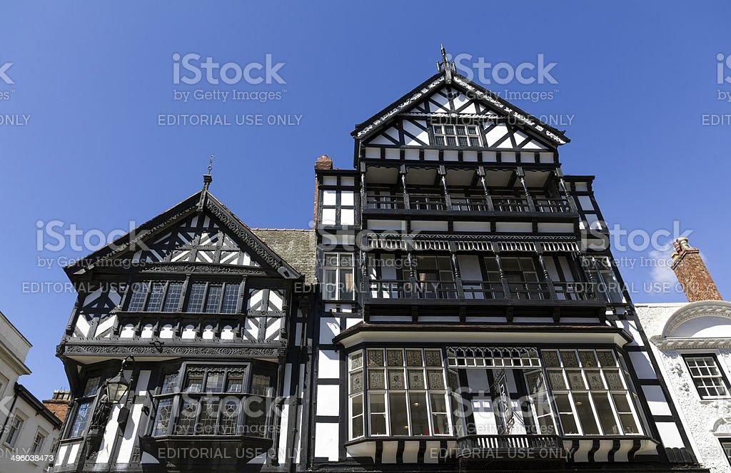 Tudor Architecture Chester royalty-free stock photo