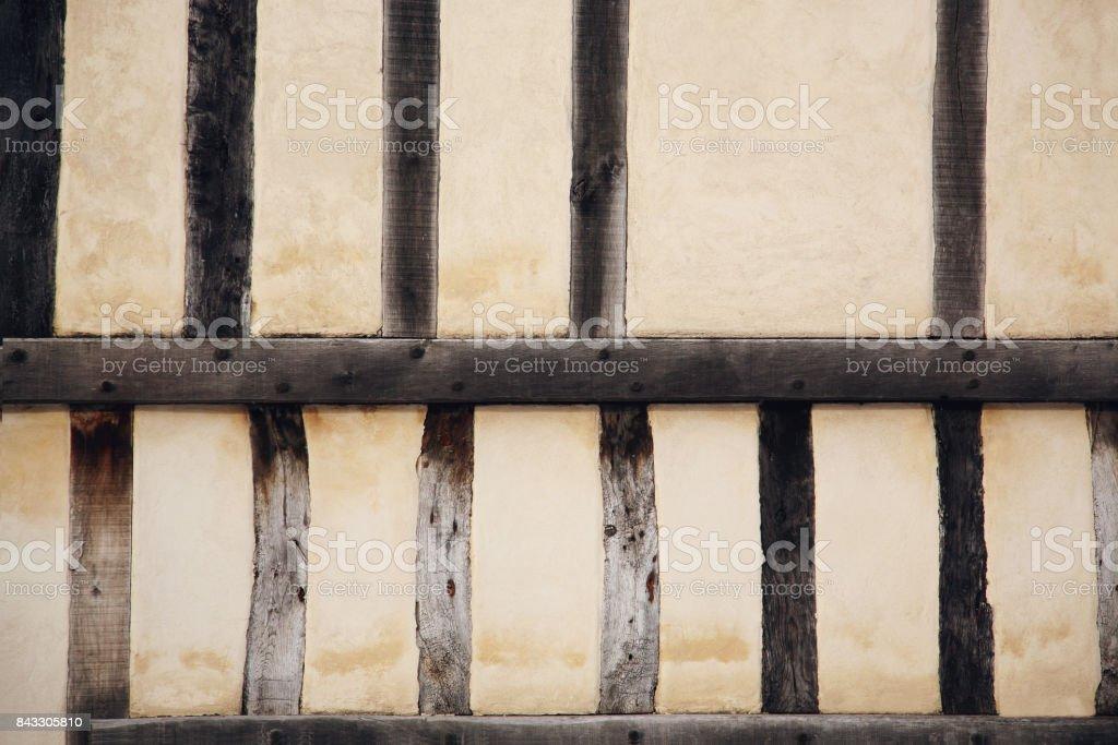 tudor beams texture stock photo