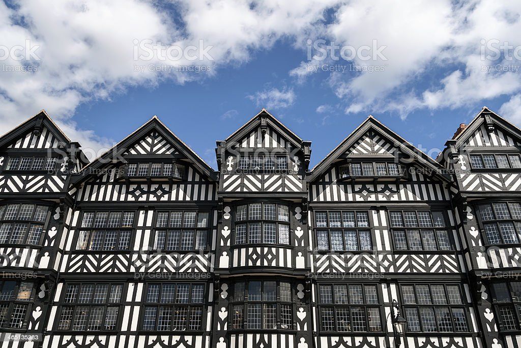 Tudor Black and White Building, Chester stock photo