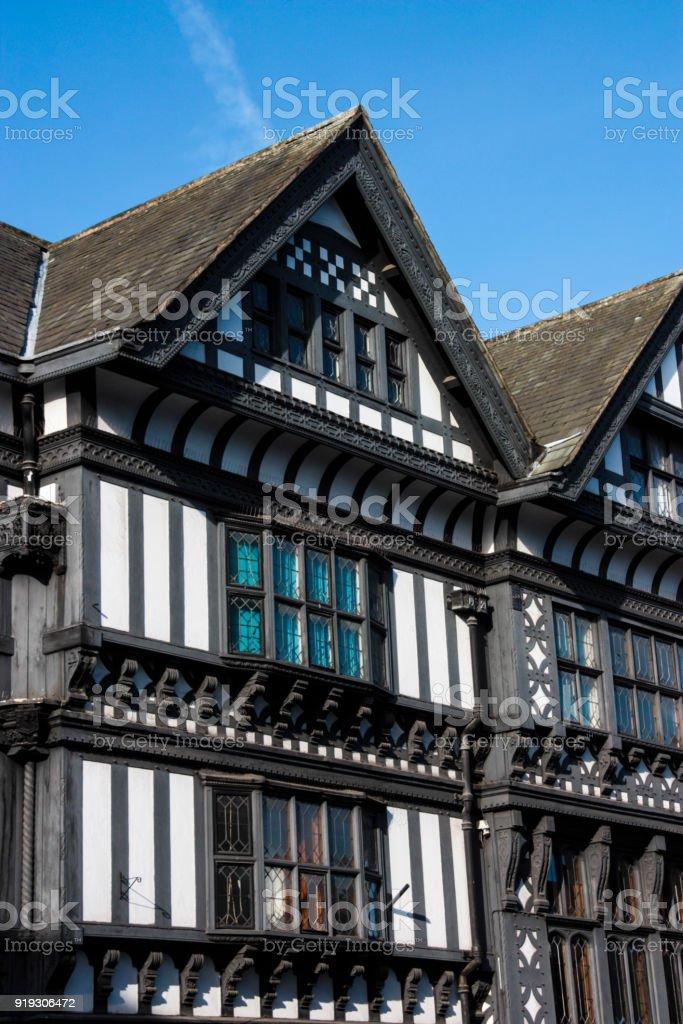 Tudor Buildings in Chester, England stock photo