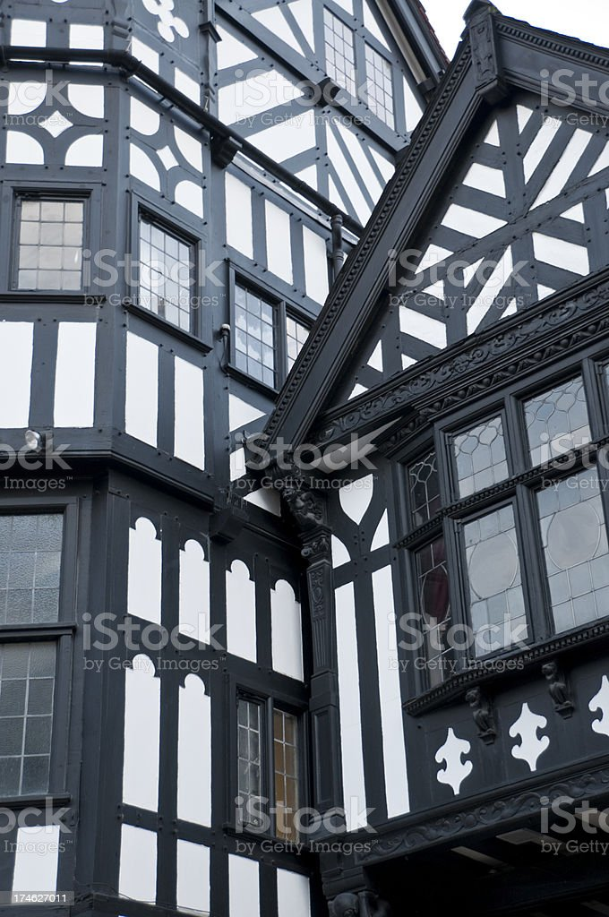 Tudor Buildings stock photo