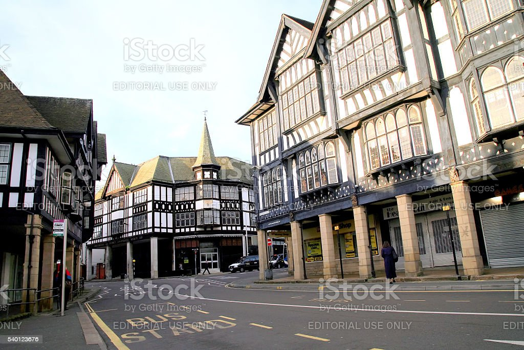 Tudor buildings. stock photo
