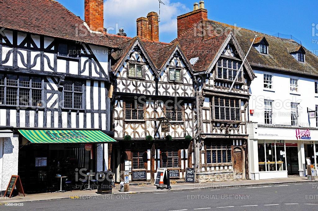 Tudor buildings, Stratford-upon-Avon. stock photo