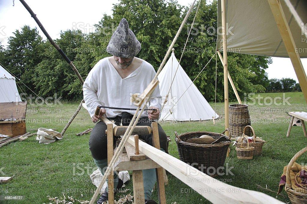 Tudor carpenter outside royalty-free stock photo