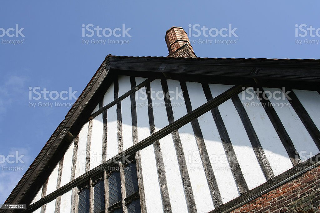 Tudor gable, part of mediaeval manor house at Gainsborough, Lincolnshire royalty-free stock photo