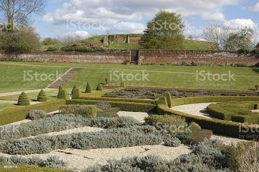 Tudor giardino, basando House foto stock royalty-free