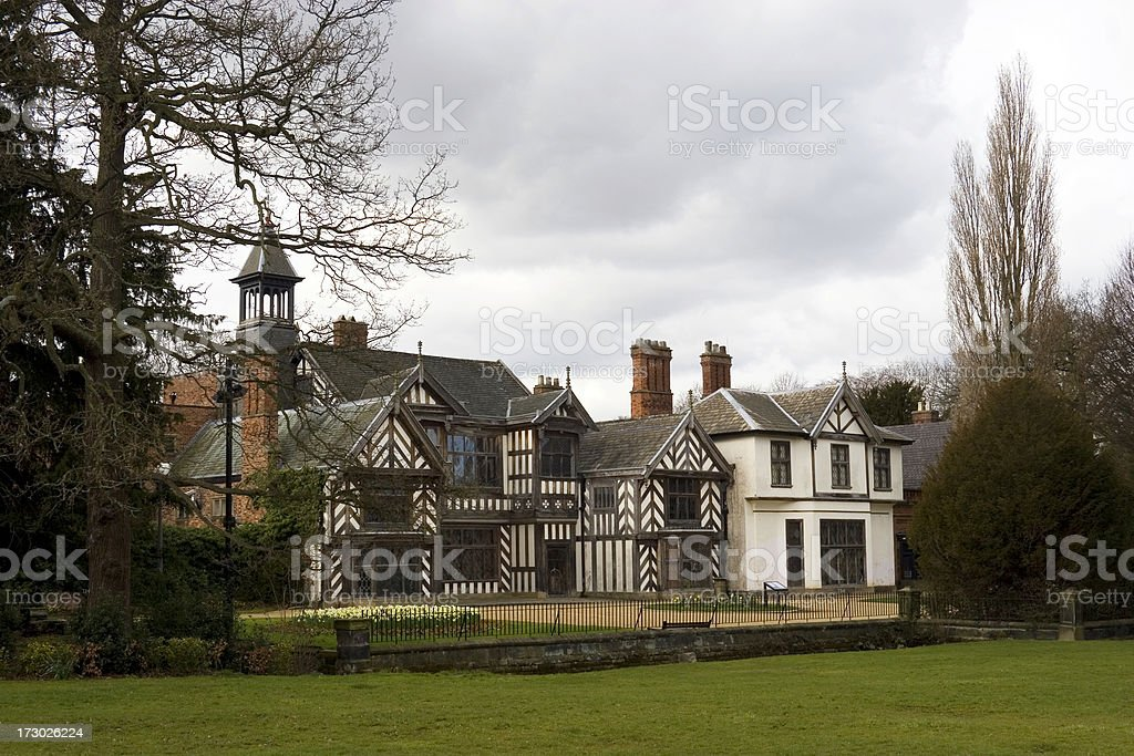 Tudor hall royalty-free stock photo