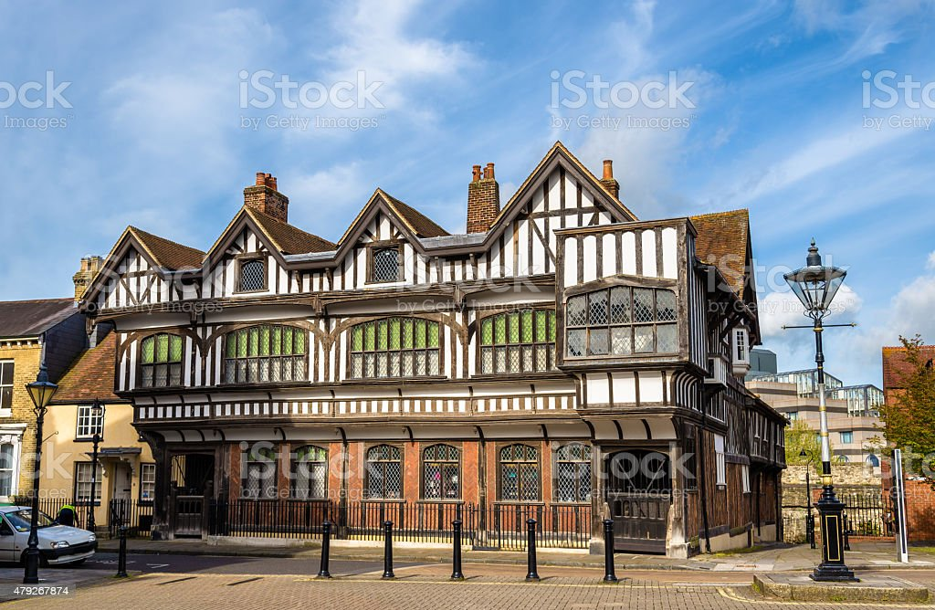 Tudor House in City Centre of Southampton, England stock photo