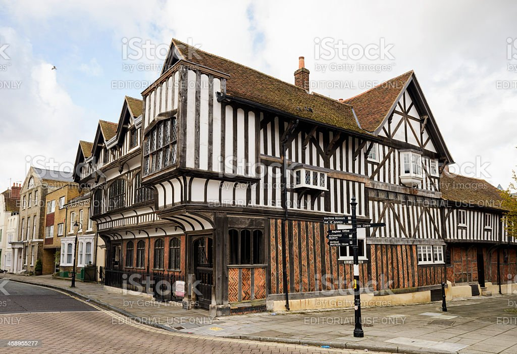 Tudor House in Southampton stock photo