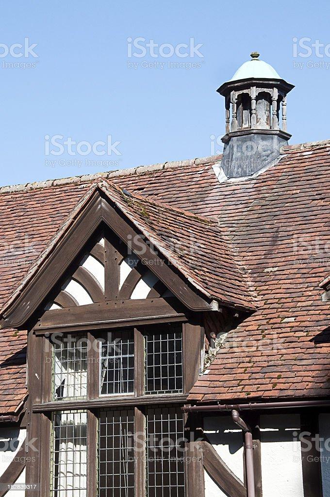 Tudor House Roof and Dorma window royalty-free stock photo