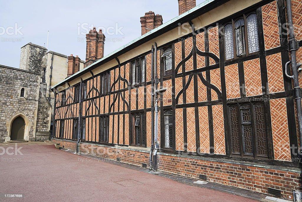 Tudor Houses, Windsor stock photo