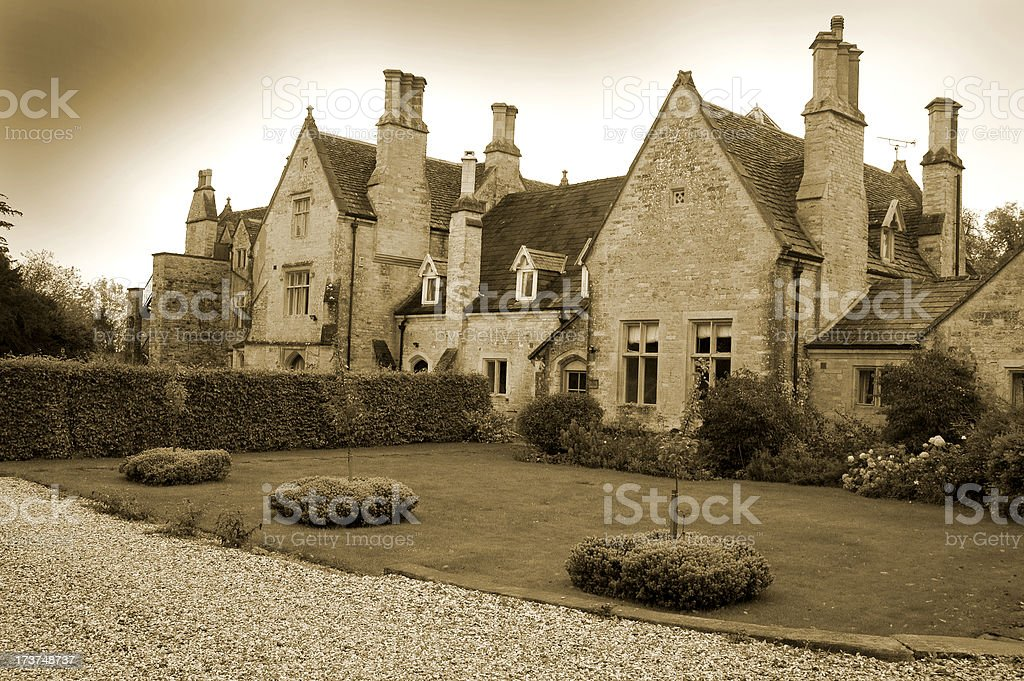 Tudor Mansion stock photo