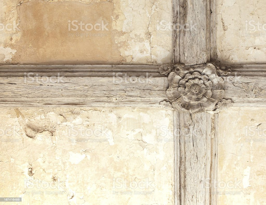 Tudor rose ceiling stock photo