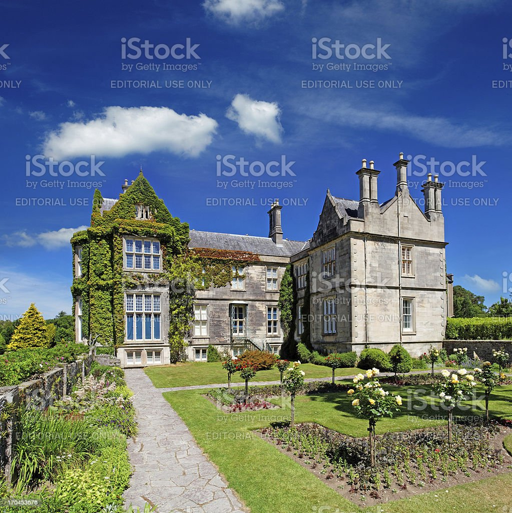 Tudor style mansion in Ireland stock photo