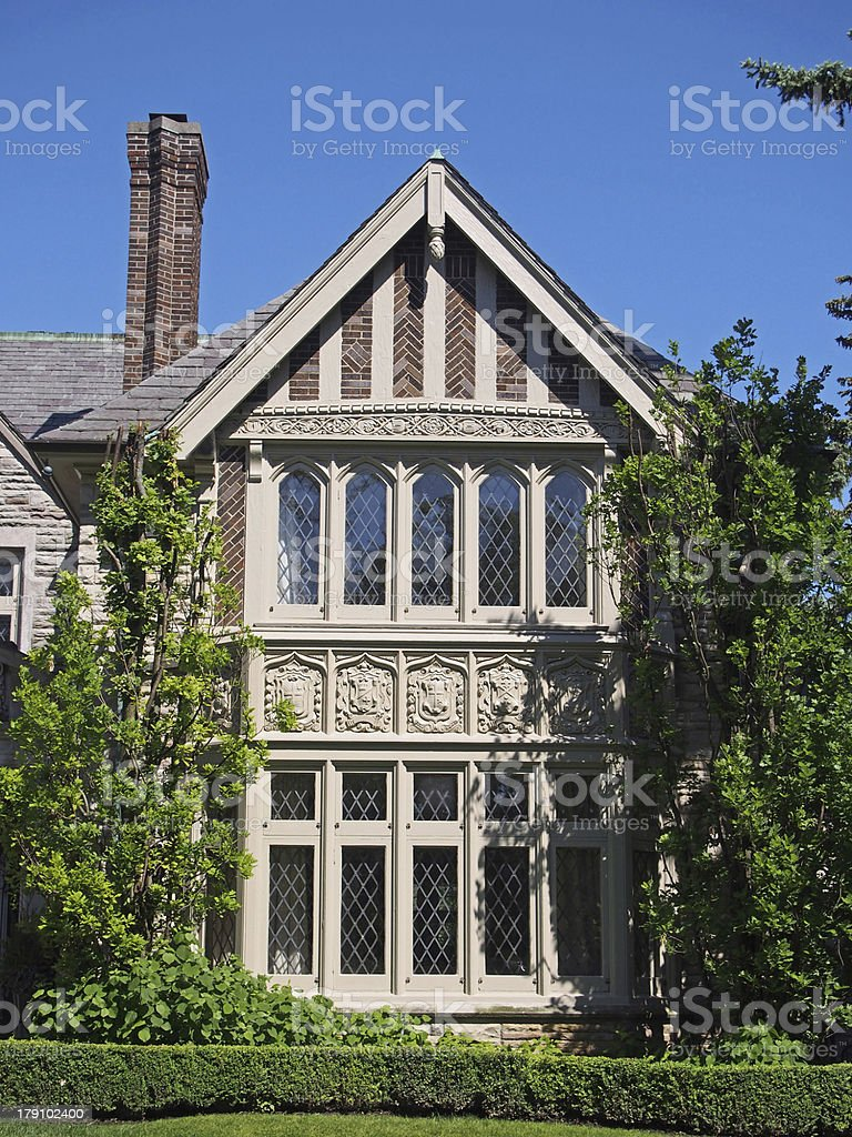 Tudor style stone house royalty-free stock photo