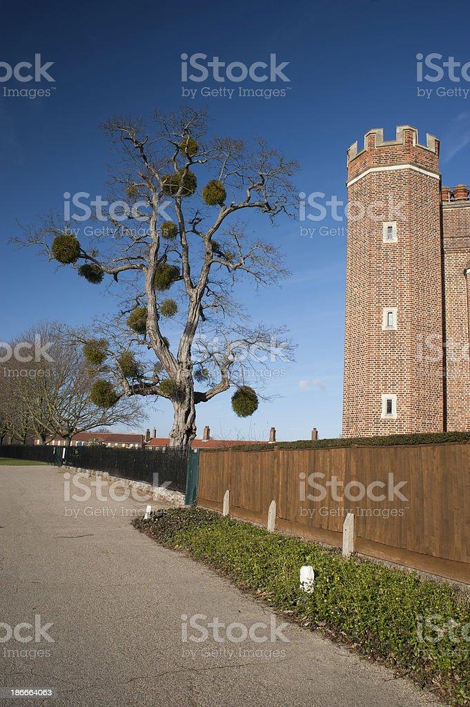 Tudor tower at Hampton Court Palace, Surrey, England stock photo