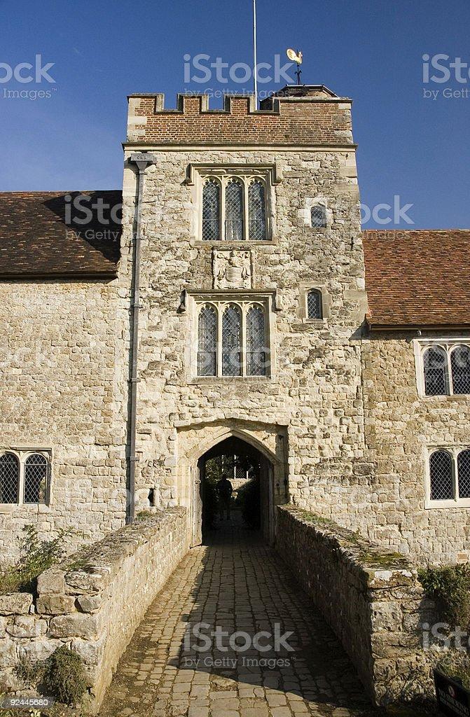 Tudor tower stock photo
