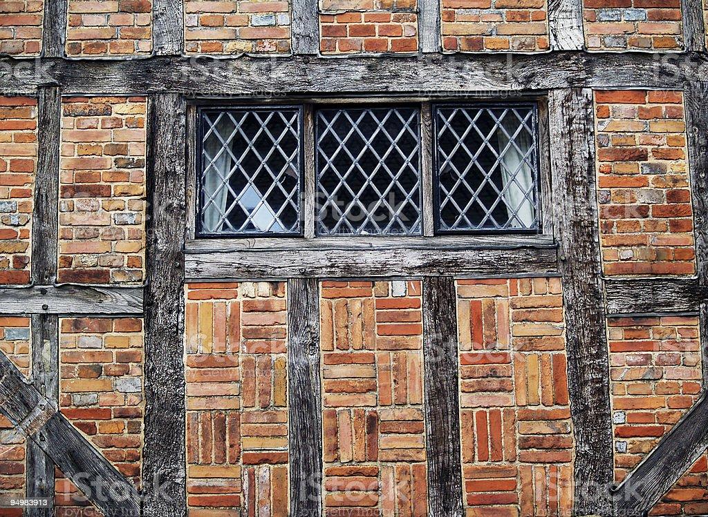 Tudor Window royalty-free stock photo