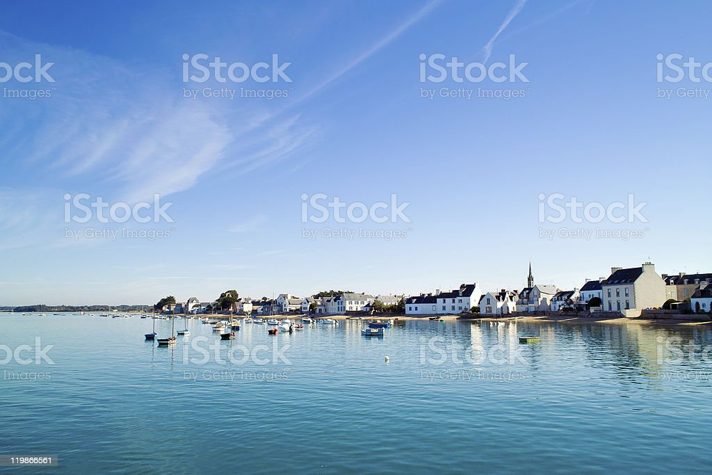 île tudy en bretagne royalty-free stock photo