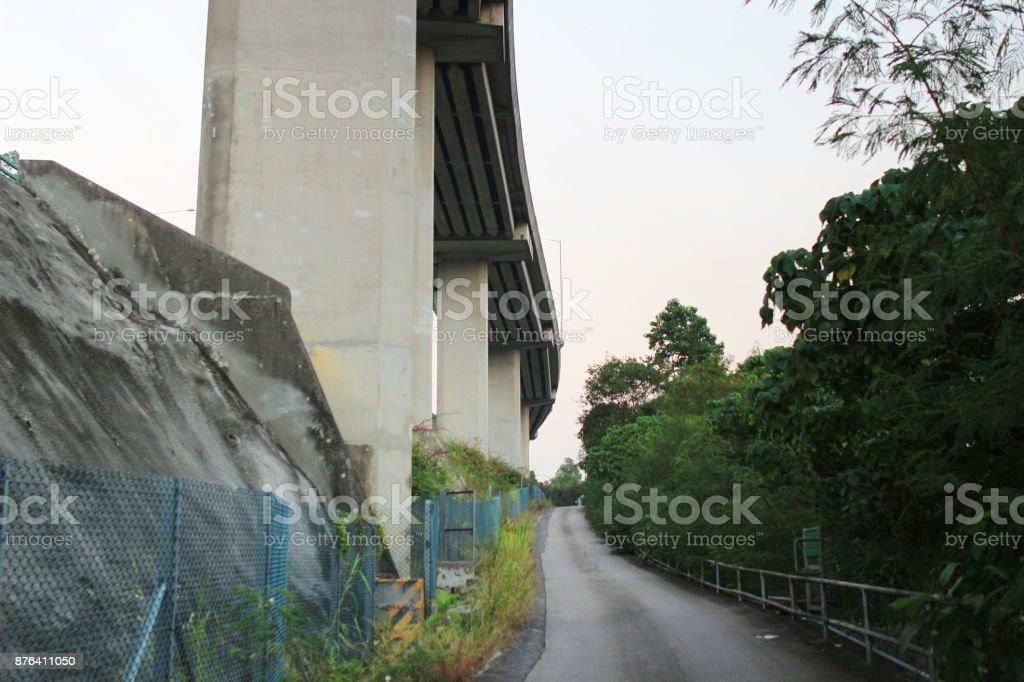 Tuen Mun Rd & New Territories Circular Rd stock photo