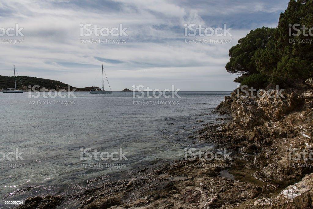Tuerredda beach royalty-free stock photo